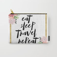 eat sleep travel repeat Carry-All Pouch