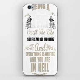 FIRE FIGHTER IS LIKE RIDING A BIKE iPhone Skin