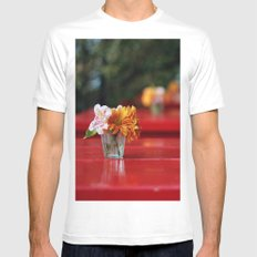 The red table Mens Fitted Tee White SMALL