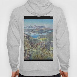 Heinrich Berann - Panoramic Painting Yellowstone National Park with labels (1991) Hoody