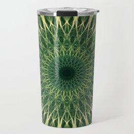 Green and yellow mandala Travel Mug