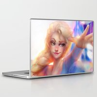 frozen elsa Laptop & iPad Skins featuring Elsa by ChrySsV