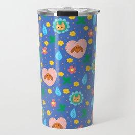 Flowery Dog and Cat Travel Mug