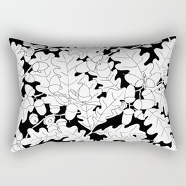 Composition of Oak Leaves and Acorns Rectangular Pillow