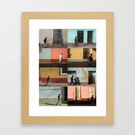Cuba Men Walking  - Vertical Framed Art Print