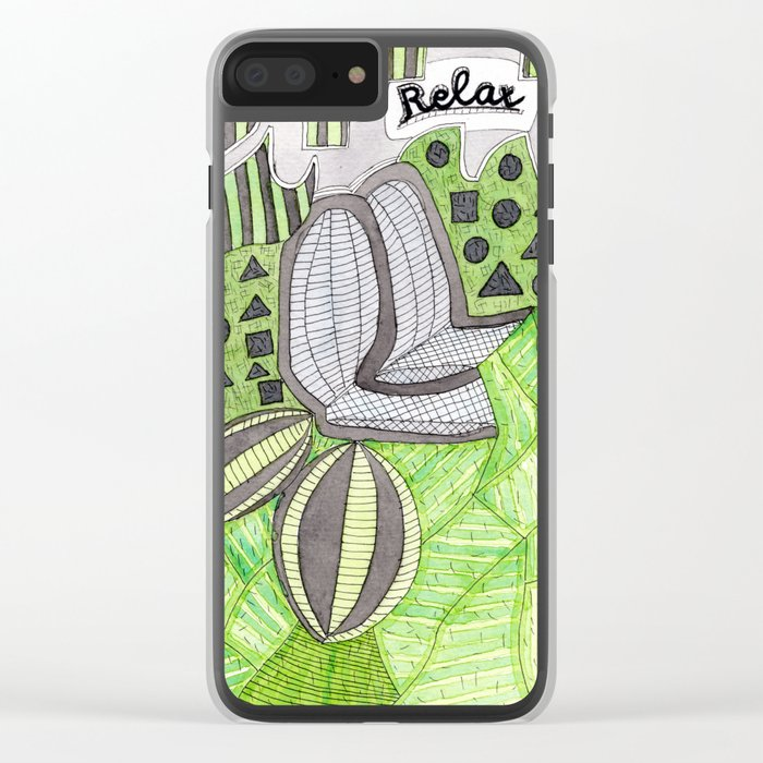 Relax! Clear iPhone Case