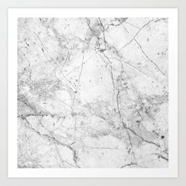 Nordic White Marble Art Print