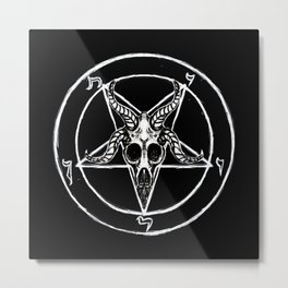 Sigil of Baphomet Black Metal Print