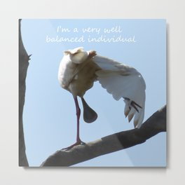 A Spoonbill's outlook on life Metal Print