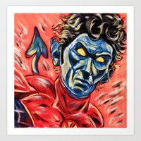 nightcrawler Art Prints featuring Nightcrawler by MSG Imaging