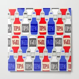 red white and blue IPA beer pattern Metal Print