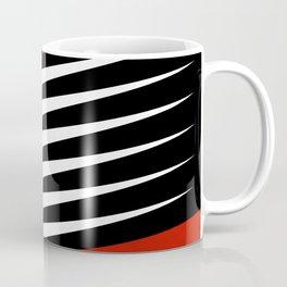 Black and white diagonal stripes Coffee Mug