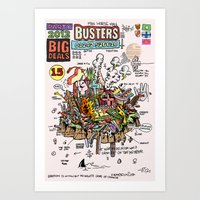 ghost busters Art Prints featuring Busters from Babylon by Jack Coltman
