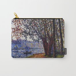 Sunlight on the Banks of the Loing French autumn landscape by Francis Picabia Carry-All Pouch