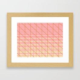 grid check layer_pink, biege Framed Art Print