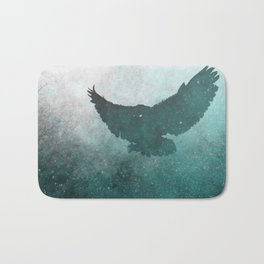 Owl Silhouette | Swooping Owl Ghost | Space Owl Bath Mat