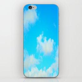 White Clouds Bright Blue Sky iPhone Skin
