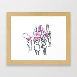 Women's March Love Framed Art Print