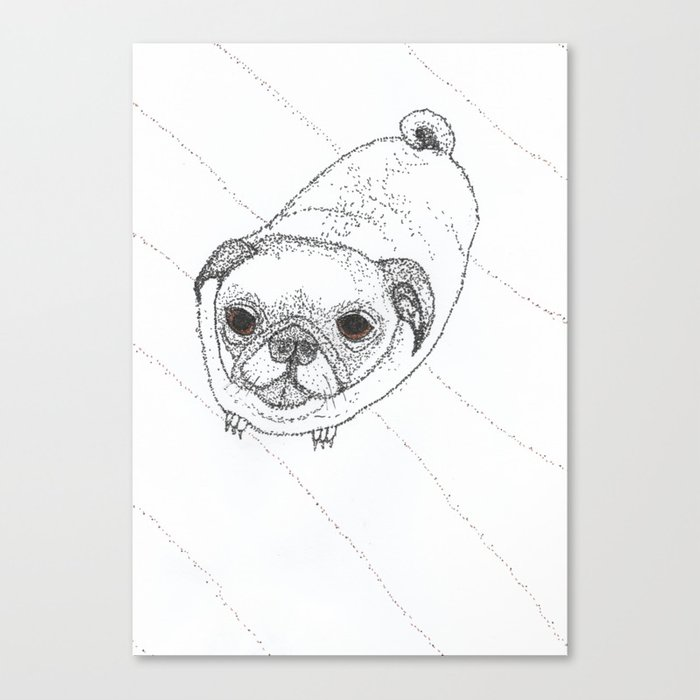 Slug Pug Canvas Print