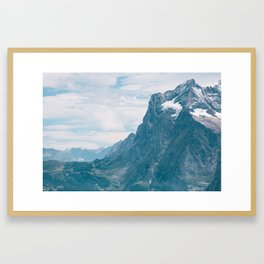 Swiss Alps - To The Valley Floor Framed Art Print