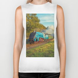 Mallard Steam Locomotive Biker Tank