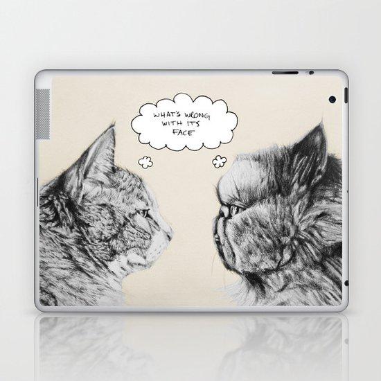 Cat Confusion Laptop & iPad Skin