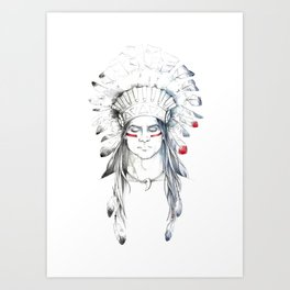 Indian man II Art Print