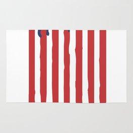 Bleeding American Flag of a US Patriot Rug