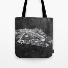 Millennium Falcon Digital Art Tote Bag