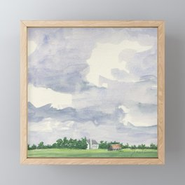 Rust in the Distance #Society6 #watercolor Framed Mini Art Print
