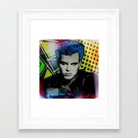 butcher billy Framed Art Prints featuring BILLY  by AZZURRA DESIGNS