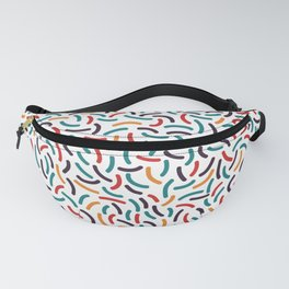 Bright Curve Mosaic Textures Fanny Pack