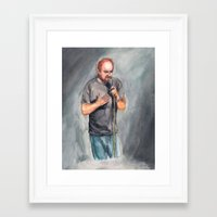 louis ck Framed Art Prints featuring Louis CK by Joe Humphrey