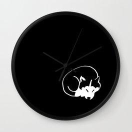 Siberian Husky 4 Wall Clock