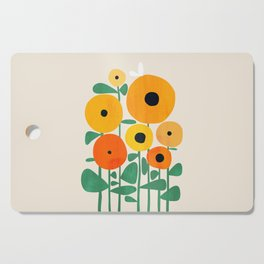 Sunflower and Bee Cutting Board