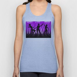 Dancing Girls On Purple With White Lights Unisex Tank Top