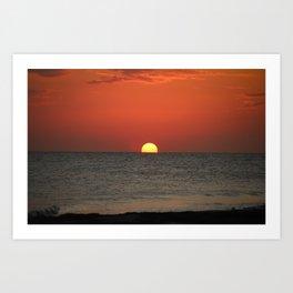 Sunset Almost Gone Art Print