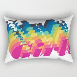 Girls Girls Girls Rectangular Pillow