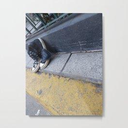 Alone on the street Metal Print