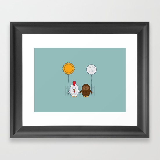 Early Bird & Night Owl Framed Art Print