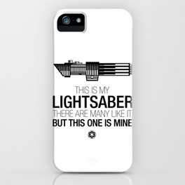 This is my Lightsaber (Vader Version) iPhone Case