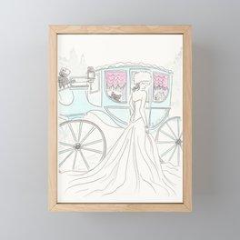 Snow Queen Aqua Carriage Furry Friends Framed Mini Art Print