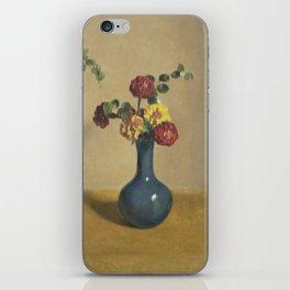 Marigold flowers in a blue vase, Willem Witsen, 1885 - 1922 iPhone Skin