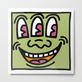 Baby Monster - Keith Haring Metal Print