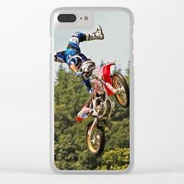 Motocross stuntman Clear iPhone Case