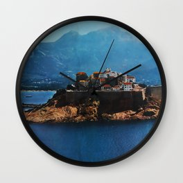 Corse France Travel Poster Wall Clock