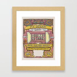DREAM deferred Framed Art Print