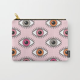 EYES WIDE OPEN - PASTEL PINKS Carry-All Pouch