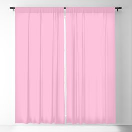 From The Crayon Box – Cotton Candy Pink - Pastel Pink Solid Color Blackout Curtain