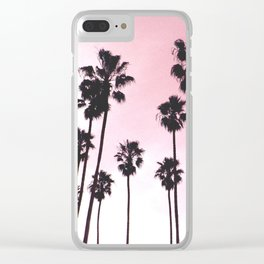 Palms & Sunset Clear iPhone Case